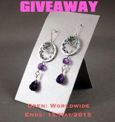 Giveaway of steampunk amethyst earrings