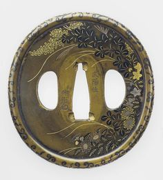 Tsuba with design of autumn plants and grasses. Edo period Late 18th–early 19th century - Murakami Jochiku (Japanese, died about 1790–1800) http://www.mfa.org/collections/object/tsuba-with-design-of-autumn-plants-and-grasses-11825