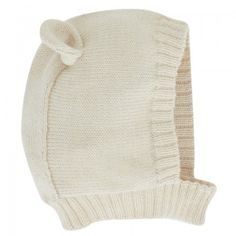 Oeuf Babies Cream Polar Bear Beanie Hat | AlexandAlexa