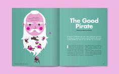 For an article in Little White Lies about Max Hardberger, a real life pirate fighter - with an awesome beard! Page Layout Design, Book Layout, Brochure Design, Branding Design, Book Design Inspiration, Magazin Design, Graphic Design Books, Newspaper Design, Magazines For Kids