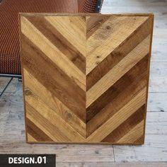 テーブル用ヘリンボーン天板<USバーンウッド>(SIZE: 600×650×35~38mm) | MUKU-MO