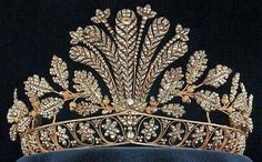 Napoleonic Steel Cut Tiara #AntiqueJewelry #Sweden
