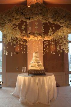 Wedding Chuppah Designs   Wedding Ideas / Suspended Chuppah spectacular wedding cake display