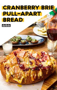 Cranberry Brie Pull-Apart Bread- Mom made Sep Yummy, especially the butter Thanksgiving Recipes, Holiday Recipes, Christmas Recipes, Christmas Sweets, Christmas Cooking, Christmas Goodies, Holiday Treats, Christmas Eve, Appetizers For Party