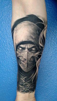 MORTAL KOMBAT - sleeve in progress Venture Tattoo in Chicago