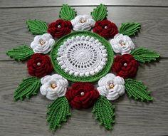 Crochet home decor by StunningCrocheting on Etsy Crochet Leaves, Crochet Doilies, Crochet Flowers, Doily Patterns, Knitting Patterns, Crochet Patterns, Crochet Decoration, Crochet Home Decor, Mocca