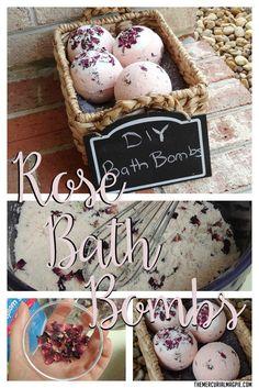DIY Rose Bath Bombs