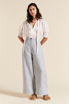 Soma Tucked Top | Lee Mathews Official Online Store | Lee Mathews Wide Leg Linen Pants, Size 00, Spring Summer, Legs, Project 333, Sleeves, Model, Collection, Store