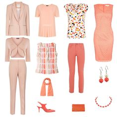 Summer capsule wardrobe for a light and warm coloured client - accent colours