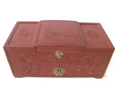 Vintage Jewelry Box Vintage Japanese Decorated by PhotosPast, $20.00