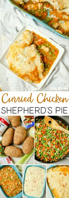 With Chicken Vegetables And A Creamy Curry Sauce This Curried Chicken Shepherd S Pie