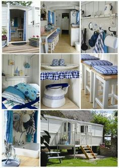 My idea for a small house interior. Seaside decoration for an old caravan wagon! so sweet :)