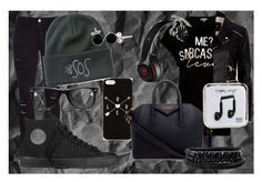 """""""Outfit #18"""" by secretlynerdyfangirl ❤ liked on Polyvore featuring River Island, Frame Denim, Black Apple, Converse, Givenchy, Spring Street, Muse, Happy Plugs and Bling Jewelry"""