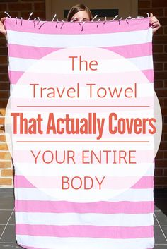 Tired of teeny tiny pack towels that barely cover your body? Try this instead!