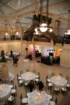Photography by georgestreetphoto.com Coordination by soireechicago.com Floral Design by cattleyabridal.com  Read more - http://www.stylemepretty.com/2012/11/16/chicago-wedding-at-the-rookery-from-soiree-weddings-events/