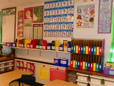 this classroom makes my heart happy! {bright colors and organization}