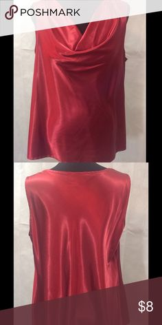 Silky Rust Top Silky finish, rust colored top. Good used condition. 95% polyester, 5% spandex. Machine wash cold. Tops Tank Tops