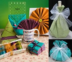 ideas for using re-usable pieces of fabric as gift-wrap