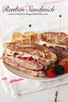 Reuben Sandwich is a classic! AND a great way to use up leftover corned beef. YUM. by www.whatscookingwithruthie.com #sandwich #beef #recipes