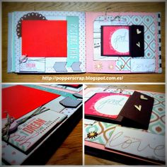 Album boda scrapbook Teresa Collins Save date #savedate #scrapbook #scrap #scrapbooking #albumscrapbook