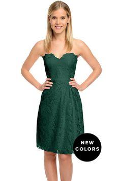 Weddington Way Ruby Bridesmaid Dress in Emerald Green in Lace