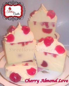 Cherry Almond Love Soaps www.sweetlovecandles.com