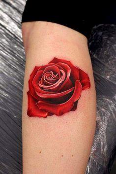 No outline red rose