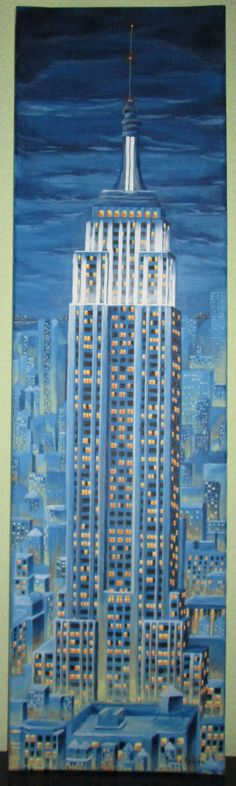 Empire State Building, NY original painting by Kamila Kubica