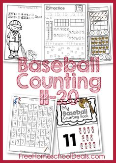 FREE BASEBALL COUNTING PACK (Instant Download)