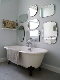frameless mirror wall display