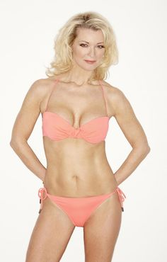 FRONT COVER NEWS: Here's a picture of 57 year-old actress Gillian Taylforth who features on the cover of Closer Magazine. You can practically see the steam rising, Gillian is like having a piping hot kettle sitting on your lap. Hot Bikini, Bikini Bottoms, Hottest Female Celebrities, British Actresses, Old Actress, Bathing Beauties, Swimsuits, Swimwear, String Bikinis