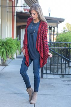 """""""Best Behavior Cardigan, Brick"""" This cardigan will always be on it's best behavior! It will always keep you nice and warm while making you looks adorable and stylish! #newarrivals #shopthemint"""