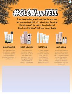 Mary Kay® Glow and Tell Challenge flyer freebie with editable textboxes on our blog!   http://www.qtoffice.com