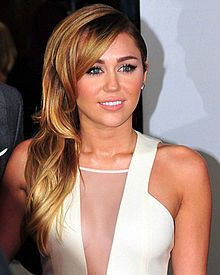 Miley Ray Cyrus  b. 1992  Actress and pop singer-songwriter.  My cousin.
