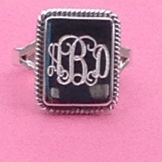 A personal favorite from my Etsy shop https://www.etsy.com/listing/288503257/monogrammed-square-sterling-silver