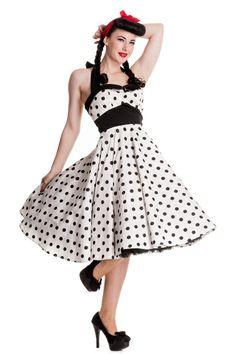 Adelaide 50 White-mekko - Naiset - Mekot - Underground Store & Piercing Studio #dress #underground #vintage #50's