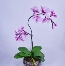 Nylon flower orchid arrangement (5)
