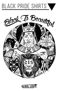 Beautiful Black Pride T-Shirts Line Artwork, Black Artwork, Black King, Black Queen, African American Artwork, Afrocentric Clothing, Culture T Shirt, Black Goddess, Creative Shirts