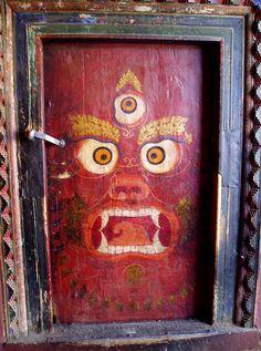 Tibet, Lhasa Door by E.Ciofi, via Flickr