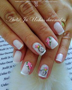 Aprenda passo a passo, como fazer unhas perfeitas e como ter sua agenda lotada o ano todo! Ou chama no WhatsApp Rose Nails, Flower Nails, Painted Toe Nails, Acrylic Nails, Feather Nail Art, The Art Of Nails, Cute Nail Art Designs, Nails Only, Dream Nails