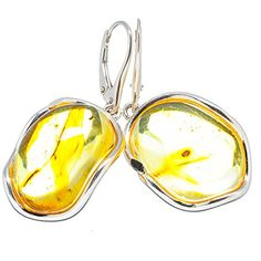 """Ana Silver Co Genuine Baltic Amber 925 Sterling Silver Earrings 1 3/4"""" (Unique Handcrafted Artisan Jewelry) EARR291730 Ana Silver Co. http://www.amazon.com/dp/B00ZRIE362/ref=cm_sw_r_pi_dp_PoBKwb0H2M4VM"""