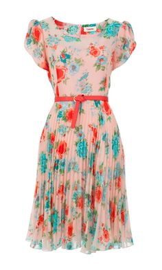 Pleated Floral Dress. LOVE.