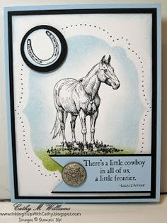 Inking It Up With Cathy: Stampin' Up! - Horse Frontier...