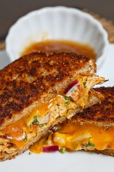 """TANDOORI"" CHICKEN MELT ~~~ besides this post's link incorporating chicken cooked with tandoori masala into a sandwich, my present go-to choice for tandoori masala spice mixtures is at http://www.pinterest.com/pin/239816748882300298/ [closetcooking]"