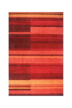 Geo Wool Rug - Red by Momeni on @HauteLook  (for foyer)