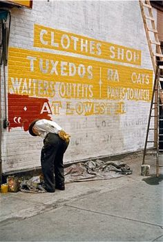 Sign Painter, 1954, by Saul Leiter