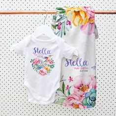 Wooden name train trains the train and to make up personalised baby gift sets onesie and blanket negle Gallery