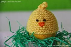 Crochet: egg warmer chick - by Wollzeitmama- Häkeln : Eierwärmer Küken – by Wollzeitmama Crochet: egg warmer chick – by Wollzeitmama - Crochet Egg Cozy, Easter Crochet, Crochet For Kids, Crochet Yarn, Crochet Kitchen, All Holidays, Cool Kids, Knitting Patterns, Beanie