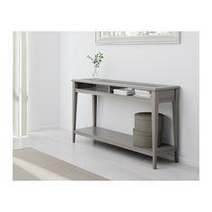 ЛИАТОРП Консольный стол - серый/стекло - IKEA