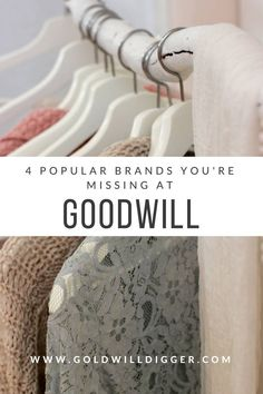 4 Popular Brands You're Missing at Goodwill - Thrifting - vintage Thrift Store Fashion, Thrift Store Shopping, Shopping Hacks, Thrift Shop Outfit, High End Clothing Brands, Popular Clothing Brands, Goodwill Finds, Thrift Store Finds, Thrift Stores